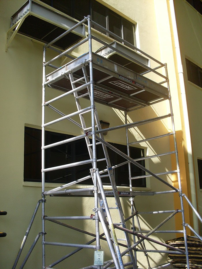 Scaffolding for Aircon 04