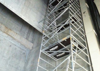 Tall Aluminium Scaffolds for Ducting Works