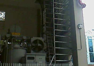 Aluminium Scaffolding at Plant 13