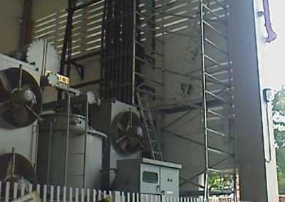 Aluminium Scaffolding at Plant 14