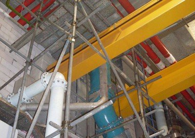 Tubes & Couplers Scaffolds inside Plant