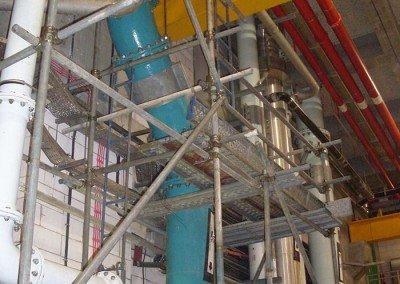 Aluminium Scaffolds at Plant 17