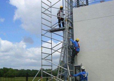 Aluminium Scaffolds at Plant
