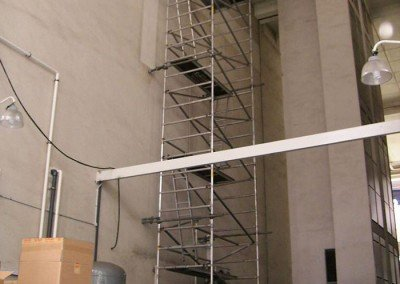 Aluminium Scaffold Tower with wall tie-back