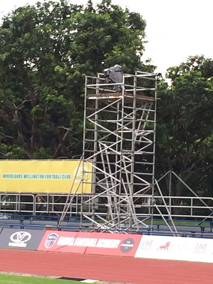 Scaffolding for Sports Events Camera