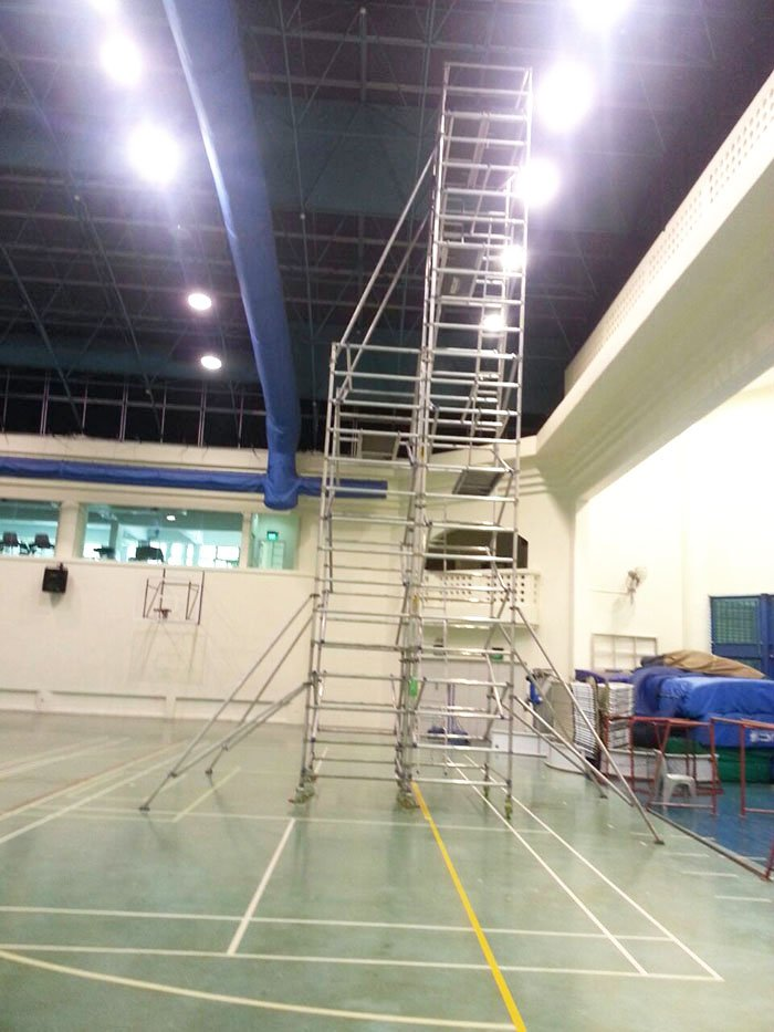 Scaffolding for Sports Events Badminton 06